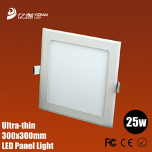 Ultra thin design 25W LED ceiling recessed grid downlight / square panel light 225mm, free shipping(China (Mainland))