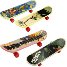 2016 New Cartoon Fun Anime Professional Finger Skateboard Zinc Lizunov toy trick Bearing Wheel Fingerboard  Children Toys(China (Mainland))