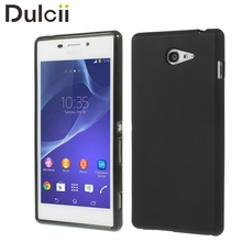 Buy Capa Sony Xperia M2 D2305 D2306 Case Black Double-sided Frosted TPU Skin Phone Cover Xperia M2 Dual D2303 D2302 Shell for $1.55 in AliExpress store