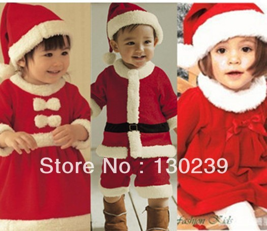 2013 baby winter romper clothing sets +Hat Long Sleeve newborn rompers christmas boy girl dress autumn -summer - good baby's store