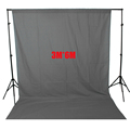ASHANKS Photo Studio Background Backdrop Grey Screen Cloth 2 6X3m With Backdrop Support 3X6M For Camara