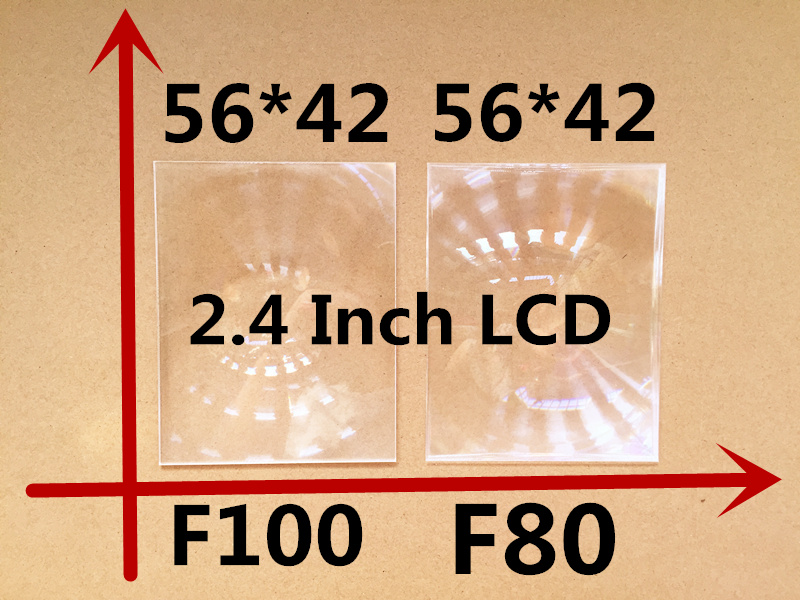 2pcs free shipping samll size 56*42 focal length 100/80 mm professional projector fresnel lens for 2.4 inch DIY projector kit(China (Mainland))