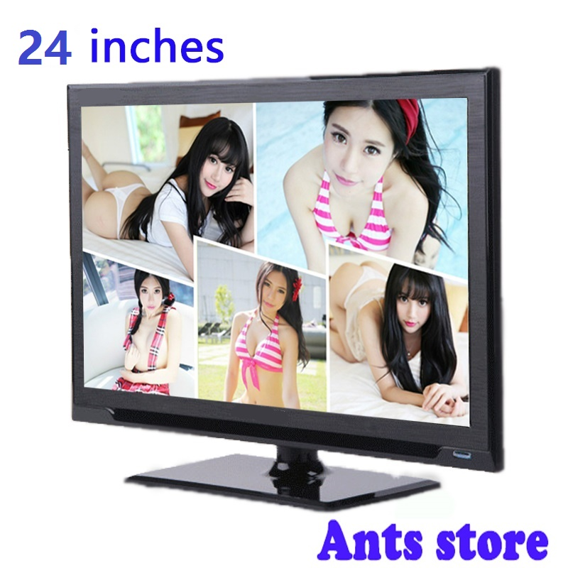 Free Shipping Cheapest sale 24inches HD LED Flat-Panel TV Energy-Saving Eyecare Elegant Appearance Narrow Support TV Box(China (Mainland))