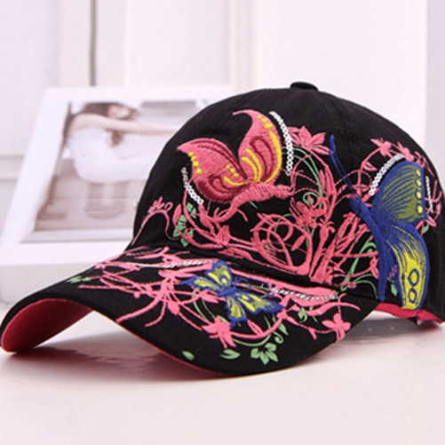 Hot!!! Summer Hat Embroidered Baseball Cap Women Lady Fashion Shopping Cycling Visor Sun Hat Caps Travel Adjustable Snapback(China (Mainland))