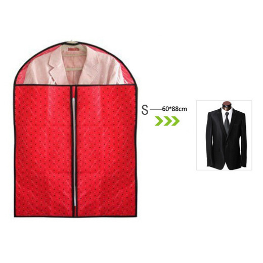 Small size 60*90cm cute sweet heart garment cover dustproof protector top transparent zipper hanging storage bag G43(China (Mainland))