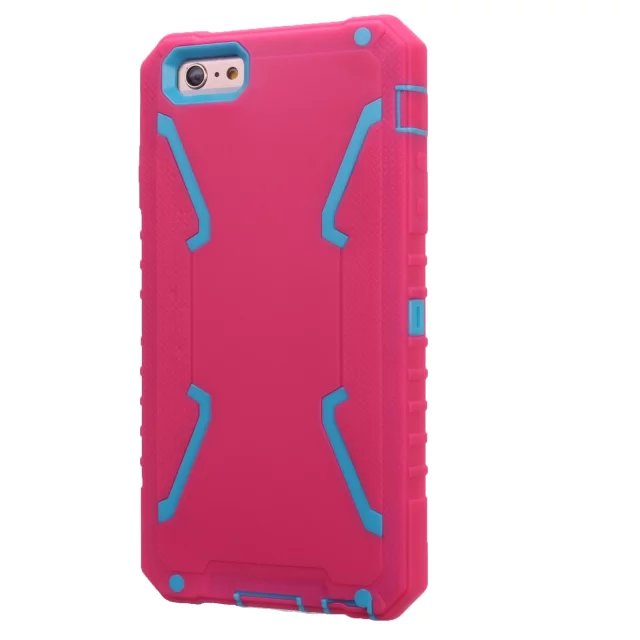 For Apple iPhone 6 4.7'' Plastic + TPU Hybrid Combo Defender Anti Shock Proof X-Line Armor Case For iPhone 6 Plus 5.5'' Cover(China (Mainland))