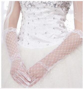 Lowest Price White Lace Cheap Bridal Gloves 2016 Free Shipping Bridal Wedding Gloves High Quality