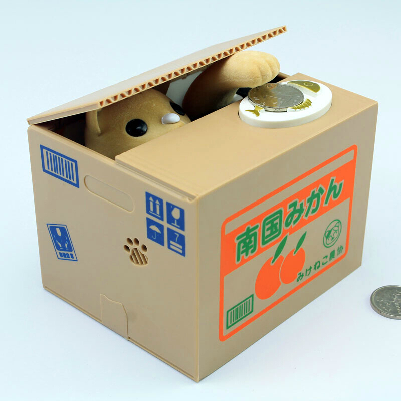 Simple life creative cute electronic piggy bank steal for Home money box