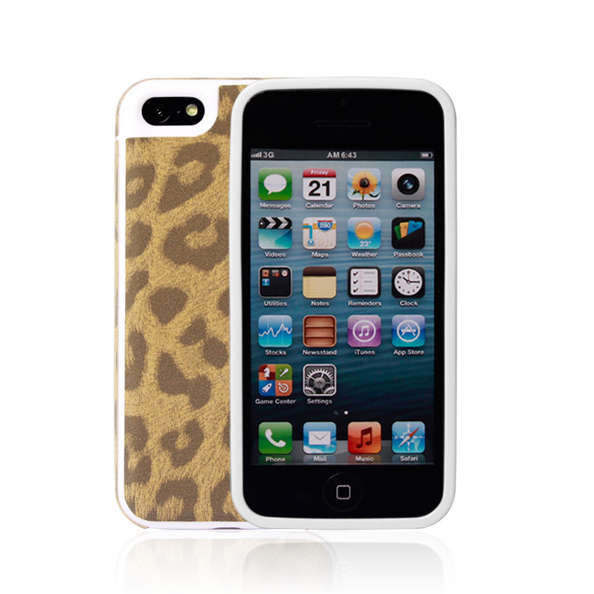 2014 plastic leopard print pattern oem mobile phone case maker factory used for iphone 5s/5c(China (Mainland))