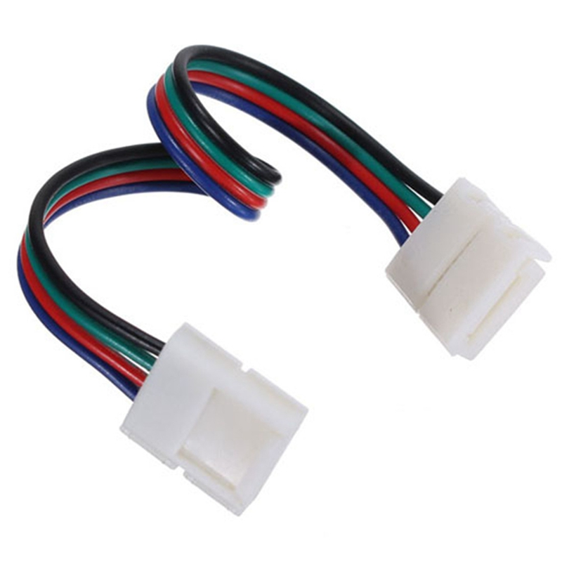 Excellent Quality 5PCS 4Pin 10MM Female DIY PVC RGB LED PCB Strip Connector Adapter For 5050 LED Lights(China (Mainland))