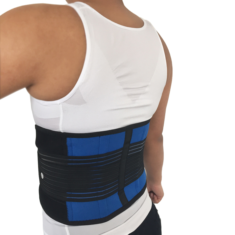 Adjustable Neoprene Double Pull Lumbar Support Lower Back Belt Brace Pain Relief(China (Mainland))