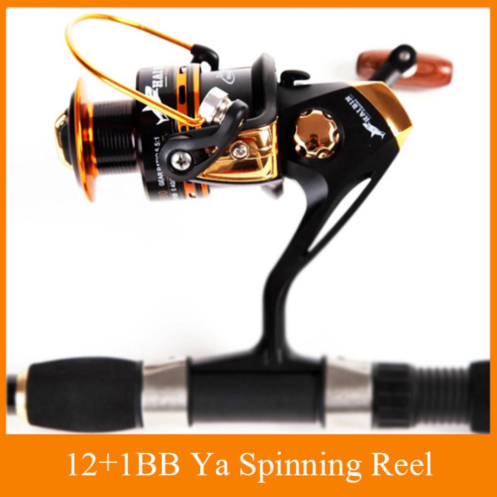 HOT SALE!! 12+1 Bearing Balls Spinning reel fishing reel YA2000-YA5000 5.5:1 spinning reel casting fishing reel lure tackle line(China (Mainland))