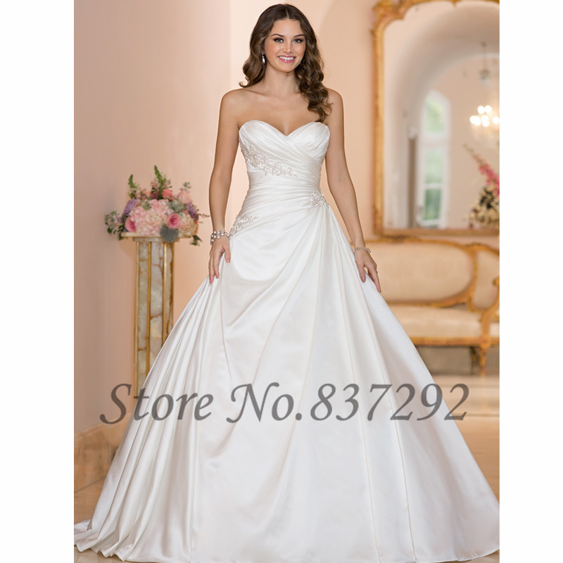 Plus size wedding dresses satin corset bridesmaid dresses for Plus size silk wedding dresses