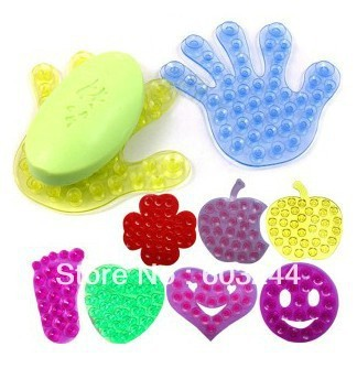 Free EMS DHL 200pcs Magic PVC Suction Cup Bathroom Mat Multifunctional Superstrong Suction Double Sides Anti Slip Sucker