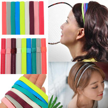 2015 High Quality Men Women Hair Accessories Yoga Sports Unisex Stretch Headband Girl Hair Rope Elastic