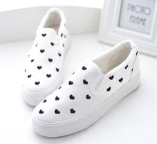Brand female love star canvas shoes sneakers female preppy lolita pedal Harajuku shoes lazy platform cotton