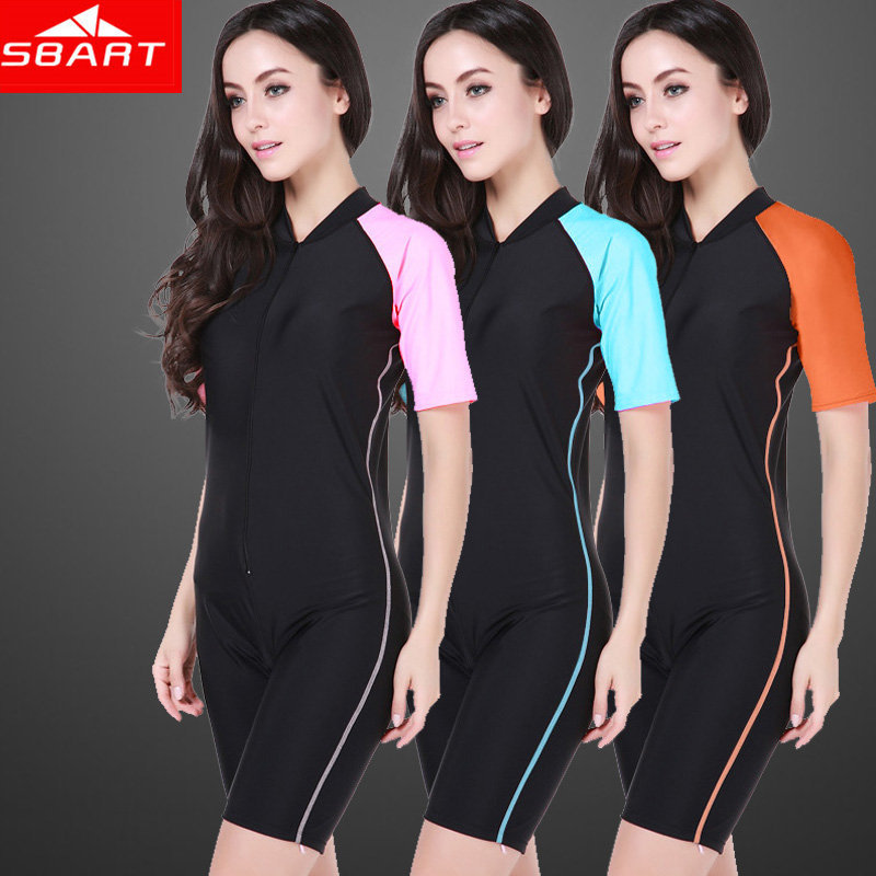 SBART Surfing Wetsuit Women Lycra Dive Skin Scuba Diving Suits Short Sleeve Wet Suit Shorty Swimming Windsurf Wet Suits 2015 I(China (Mainland))