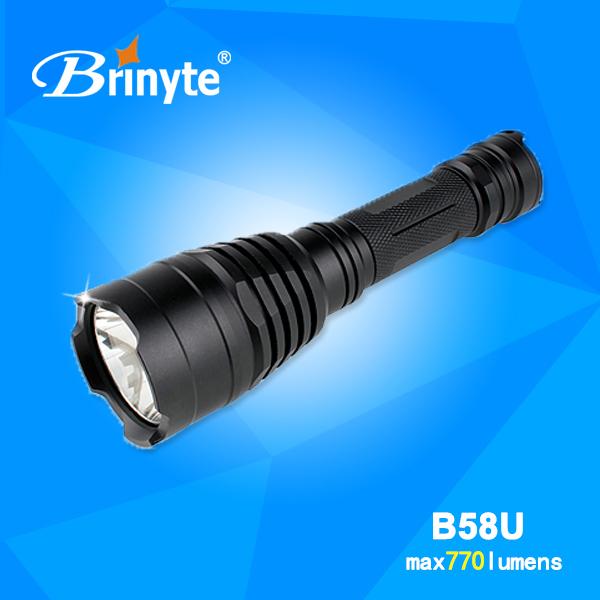 Brinyte B58U Red/Blue/Green/ White Powerful Tactical Hunt LED Flashlight Kit(China (Mainland))