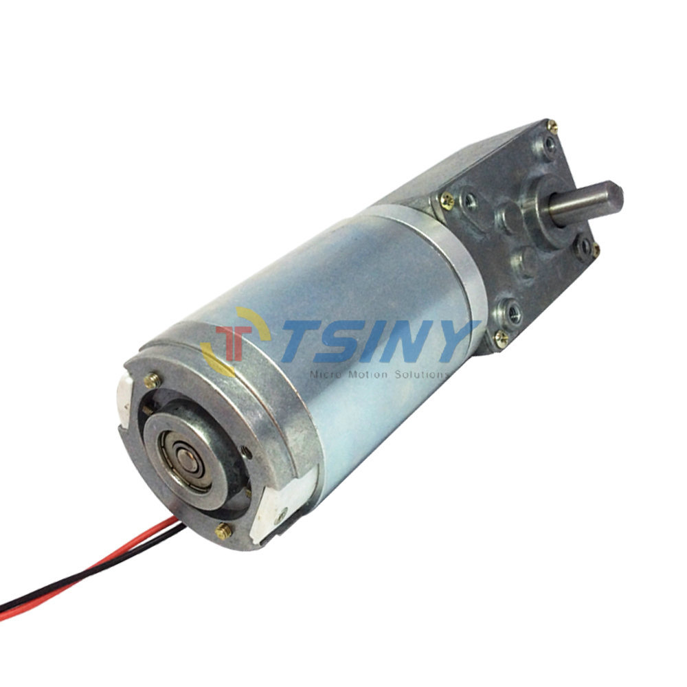 Dc 24v 17rpm high torque worm reducer geared motor with for High torque high speed dc motor