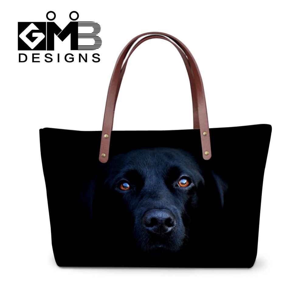 Luxury handbags for women cool pet dog pattern 3D printing hand bags for ladies trendy tote bags for shopping girl crossbody bag(China (Mainland))
