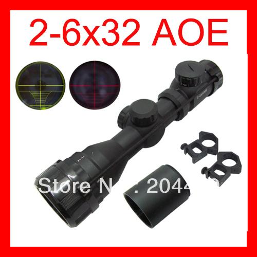 Винтовочный оптический прицел 2/6 x 32 AOE & 20 2-6x32 AOE винтовочный оптический прицел leapers utg 6 x 32 mil dot 6x32