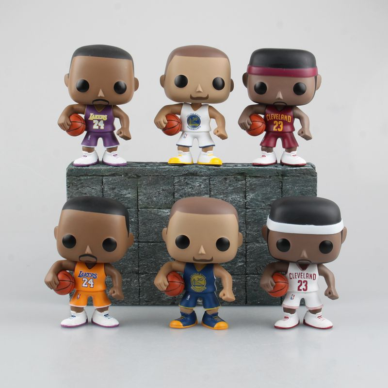 Funko POP NBA Basketball Sports Kobe Bryant Lebron James Stephen Curry 6 Type Super Star Player Vinyl Figure Collection Gift Toy(Hong Kong)