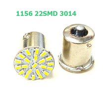 Super Bright BA15S P21W 1156 22 LED SMD Car Auto Tail Side Indicator Lights Parking Lamp Bulb White 3014 DC12V