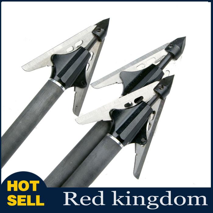 3pcs/lot Arrow Archery Arrow Broadheads 100 Grain 2 Fixed Blade 2-1/16