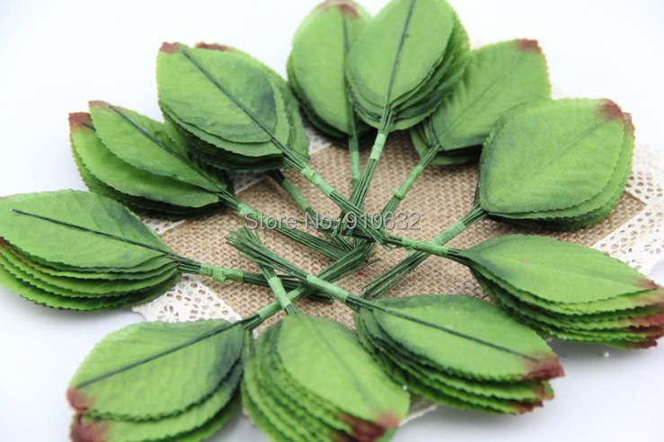 200pcs green artificial leaf leaves for bouquet garland for Artificial leaves for decoration