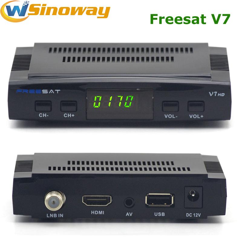 Hot in Spain Original Freesat V7 DVB-S2 HD Digital tv satellite decoder Support PowerVu Biss Key Cccamd Newcamd Youtube Youporn(China (Mainland))