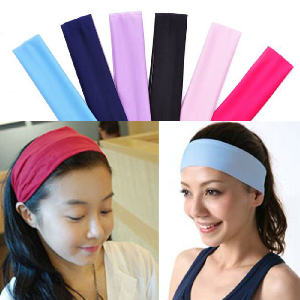 Women Lady Yoga Terylene Elastic Hairband Headband Sport Soft Fashion Hair Band(China (Mainland))