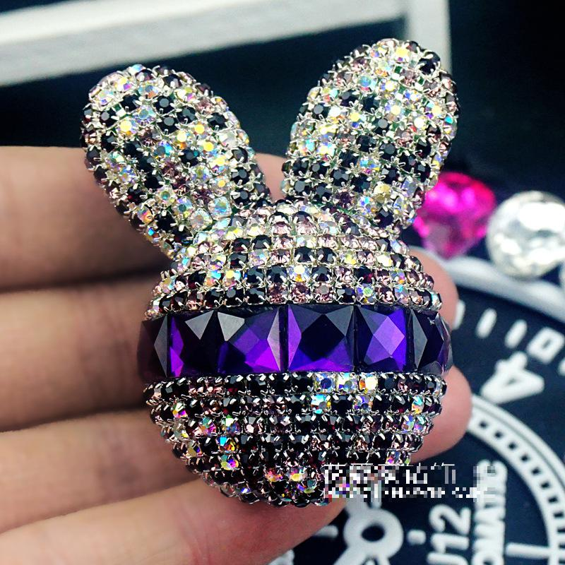 Lady fine car Solid Perfume car air freshener Cute little rabbit Air outlet of automobile air conditioner Perfume(China (Mainland))