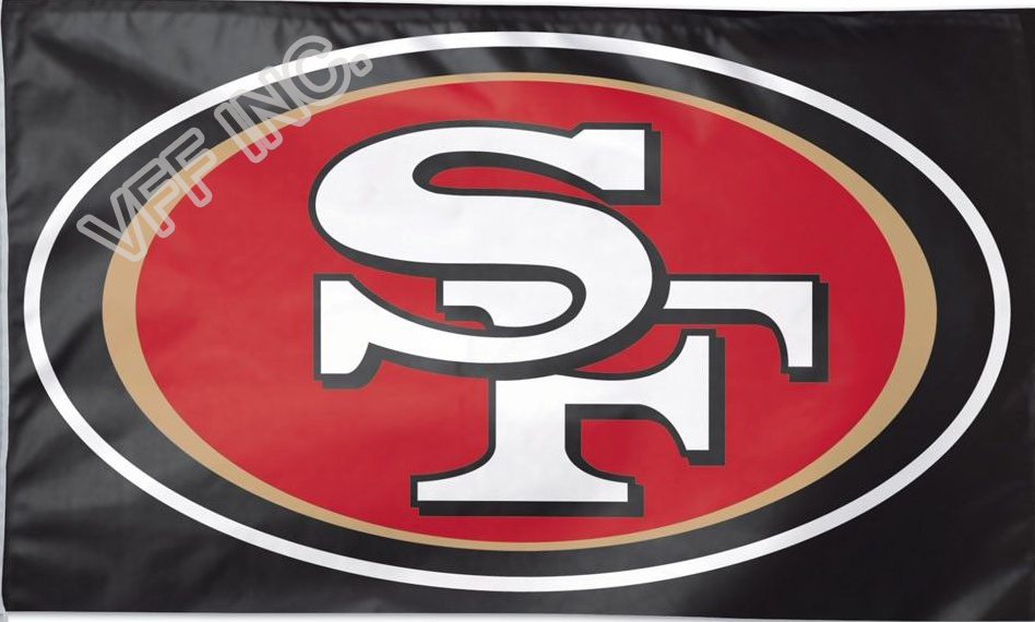 San Francisco 49ers Flag NF* National Football League 3ft X 5ft Polyester Banner Flying 150* 90cm Custom Flag Sport Black SF3(China (Mainland))