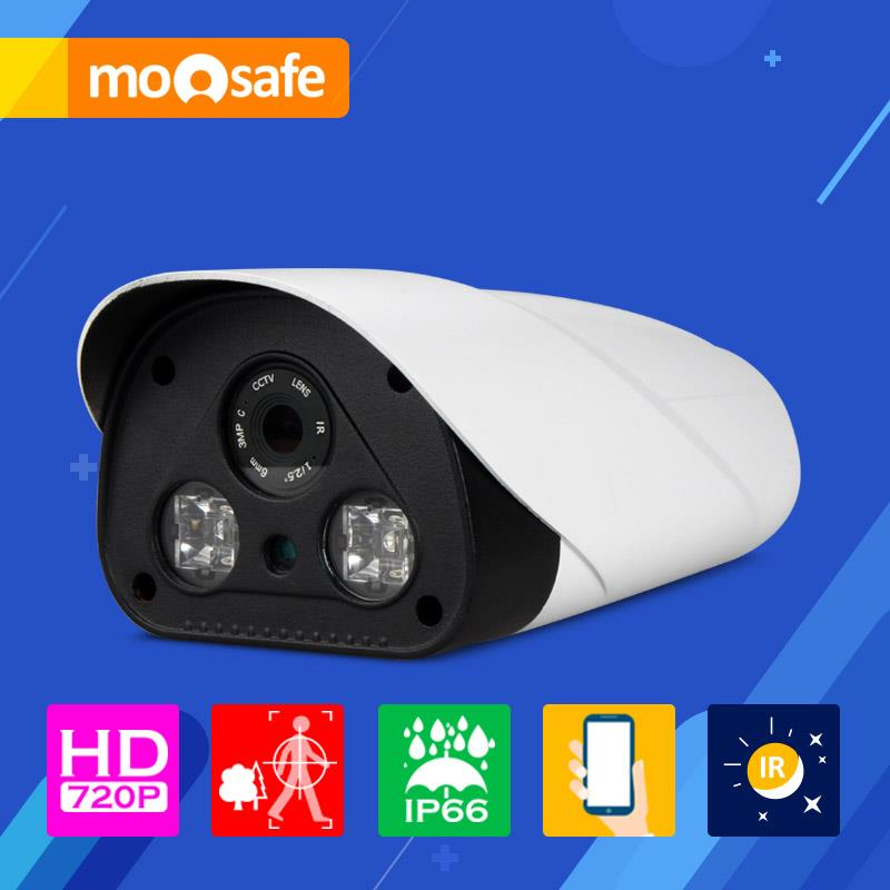 "Mosafe 1/4"" CMOS 1mp ip camera 1280*720P outdoor waterproof 2 PCS IR LED Array night vision Onvif Surveillance Cameras(China (Mainland))"