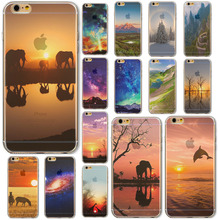 "Hot Sale Beautiful Lake For iPhone 6 4.7″Inch"" Phone Soft Thin Case Cover  Color Painted Mobile Phone Accessory Back Case"