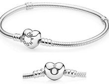 Silver Plated heart bracelets chains 100pcs/lot 15cm-22cm mixed sizes(China (Mainland))