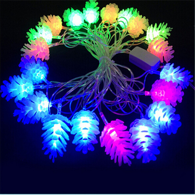 Free Shipping Luminaria 10m 50 led lamps Antique Xmas LED String Light Pinecone Garland  Home Garden Wedding  Decoration<br><br>Aliexpress