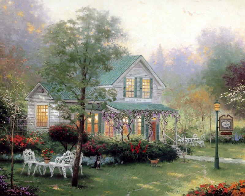 Thomas Kinkade Oil Canvas Paintings
