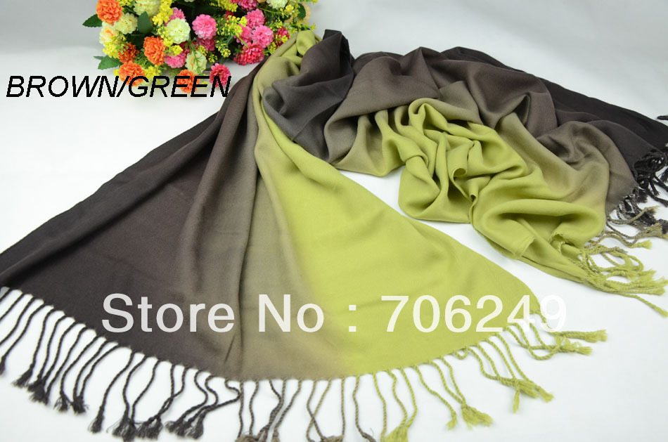 ,fashion acrylic scarf,ladies shawl,Imitation cashmere winter shawl,warm,size70*170cm,hand painted 2 color scarf - ELLEN FASHION ACCESSORIES store