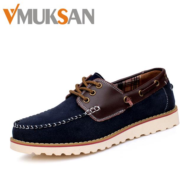Размер 38 - 43 мужская обувь лодке мода дизайнер ручной мужские мокасины Sperry Верх ...