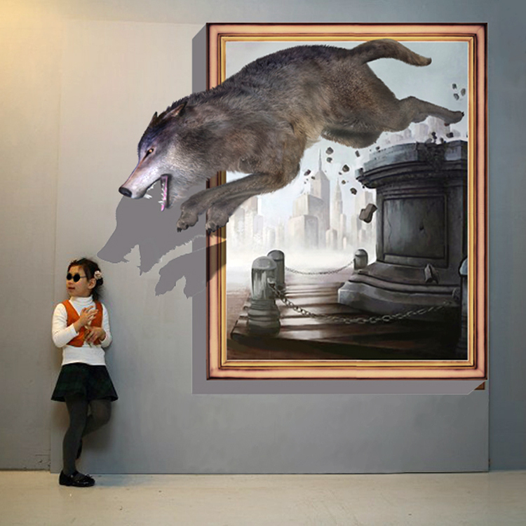 Popular 3d illusion paintings buy cheap 3d illusion for 3d mural wall art