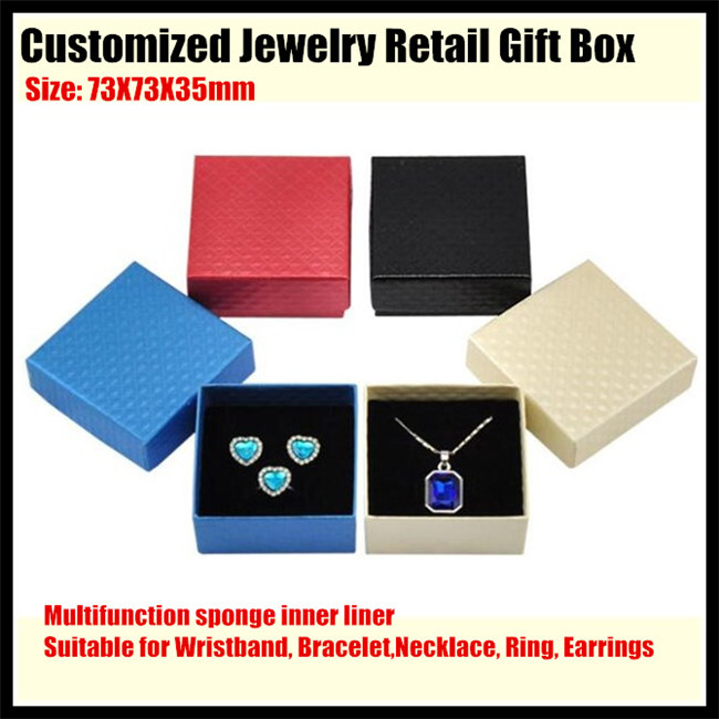 500sets!Customized Jewelry Retail Box (Paperboard Gift Boxes+sponge liner) for Bracelet,Necklace,Ring,Earrings Packaging&Display(China (Mainland))