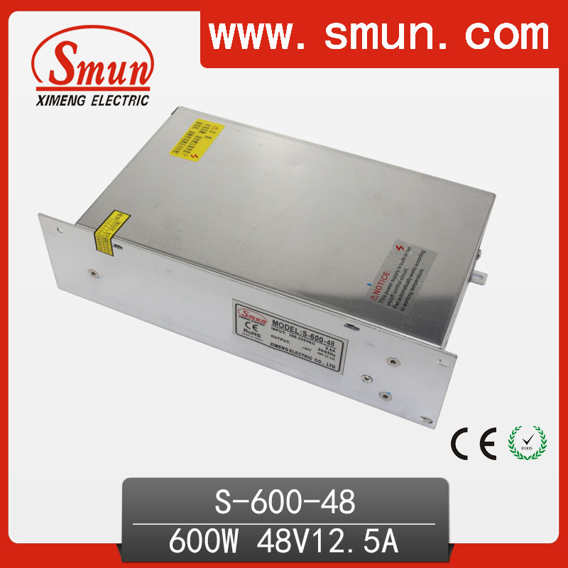 600W 48VDC 12.5A Single Output AC-DC Switching Power Supply Unit S-600-48(China (Mainland))