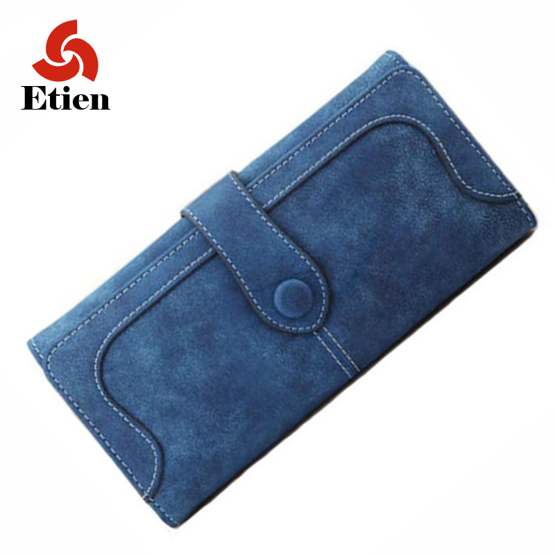Women purses 2016 latest fashion personality matte buckle multicolor casual long section of women's wallets trend wallet(China (Mainland))
