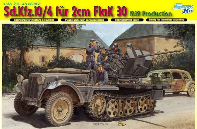 Dragon model 6739 1/35 Sd.Kfz. 10/4 fur 2cm FlaK 30 plastic model kit(China (Mainland))