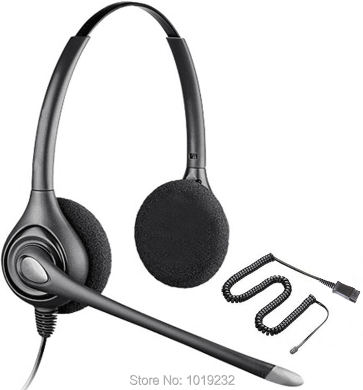 Binaural RJ9/RJ11 plug telephone headset call center headset headphones with QD(Quck Disconnect) cable office phone headset(China (Mainland))
