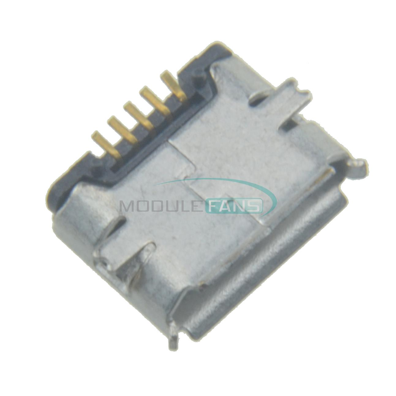Гаджет  10Pcs Micro USB Type B Female 5Pin SMT Socket Jack Connectors Port PCB Board None Электронные компоненты и материалы