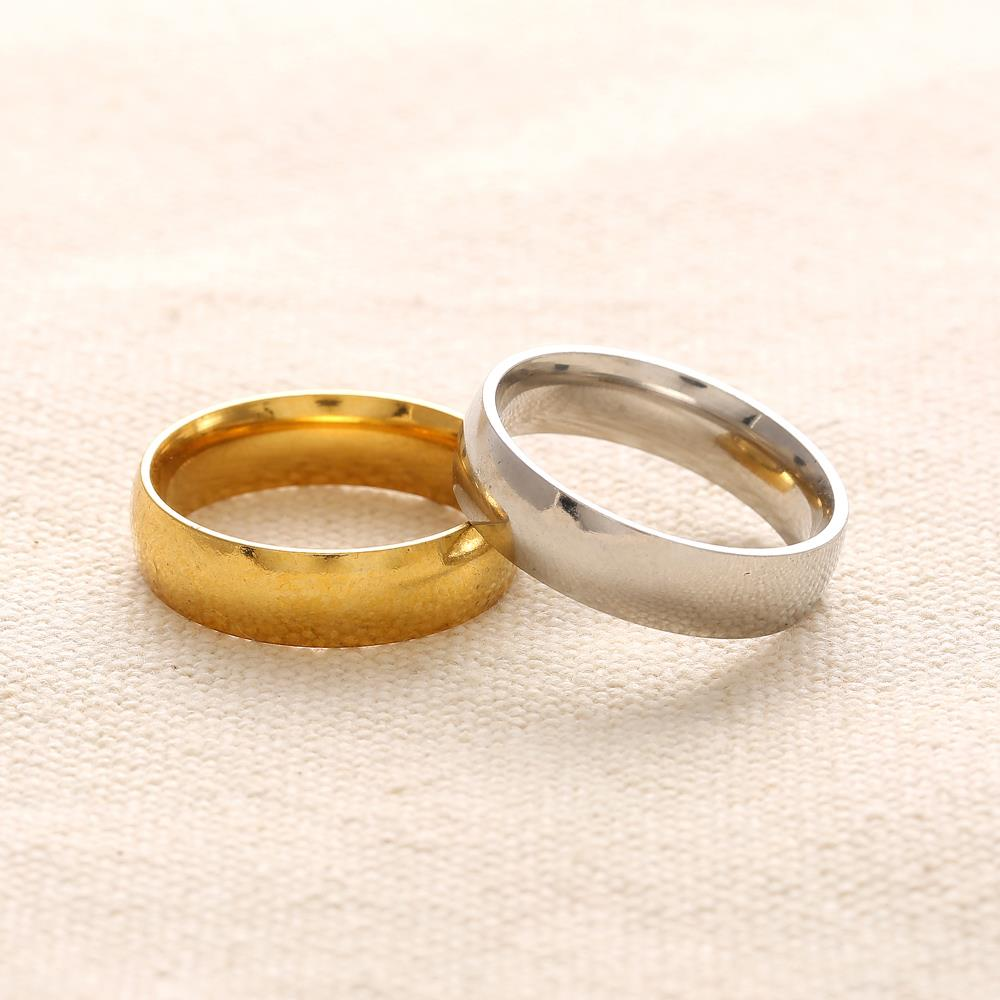 2016 Hot 18k Gold Silver Wedding Ring Jewelry Stainless Steel Rings for Men Band Rings for Women Gift 1pcs