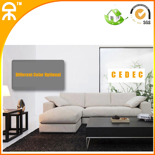 1 Chaise Lounge 2 Seat Modern Linen Chinese Sofa Set For