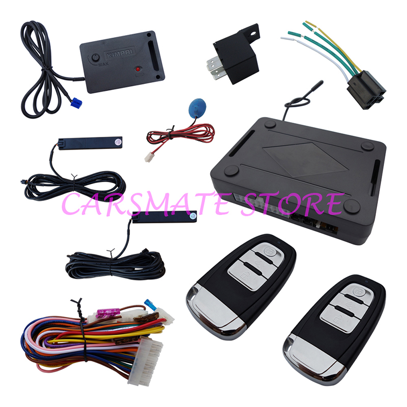 Universal PKE Car Alarm System Remote Start Stop Trunk Release Hopping Code & Auto Re-arm Lock Unlock - Carsmate Electronics Technology Limited store